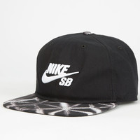 Nike Sb Seasonal Mens Strapback Hat Black/White One Size For Men 25403012501