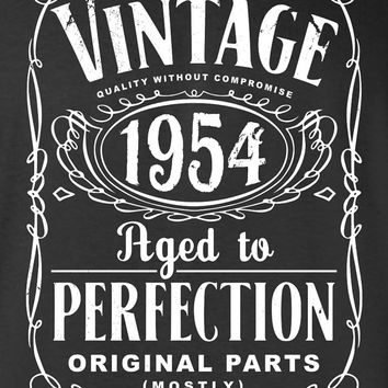 60th Birthday Gift For Men and Women - Vintage 1954 Aged To Perfection Mostly Original Parts T-shirt Gift idea. More colors available S-7