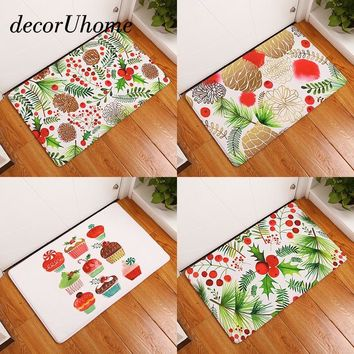 Autumn Fall welcome door mat doormat decorUhome Anti-Slip Waterproof  Pineapple Plant Ice Cream Carpets Bedroom Rugs Decorative Stair Mats Home Decor Crafts AT_76_7