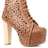 Jeffrey Campbell Shoe Lita Daisy Shoe in Tan