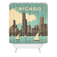 Anderson Design Group Chicago Shower Curtain
