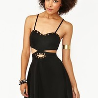 Studded Cutout Dress