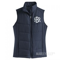 Monogrammed Puffy Vest | Marleylilly