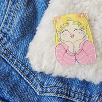 Sailor Moon 90s Kitsch Kawaii Anime Shojo Manga Japanese Pin Badge Brooch