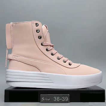 The Weeknd X PUMA XO PARALLEL The bottom of the thick Fashion Women boots shoes Pink G-A0-HXYDXPF