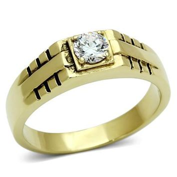 Thin Gold Mens Ring