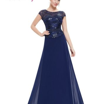 Navy Blue Mother of the Bride Dresses Ever Pretty EP08818  Mother Of The Bride Dresses 2017 Lace Short Sleeve