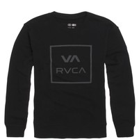 RVCA VA All The Way Crew Fleece - Mens Hoodie - Black