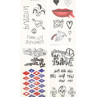 DC Comics Suicide Squad Harley Quinn Temporary Tattoo Pack
