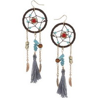 Dreamcatcher Tassel Drop Earrings