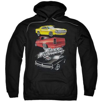 Fast And The Furious - Muscle Car Splatter Adult Pull Over Hoodie
