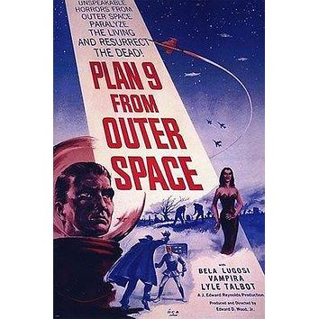 plan 9 from outer space MOVIE poster BELA LUGOSI VAMPIRA spooky sci-fi 24X36
