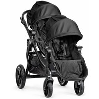 2016 Baby Jogger City Select Twin Tandem Double Stroller Black w/ Second Seat