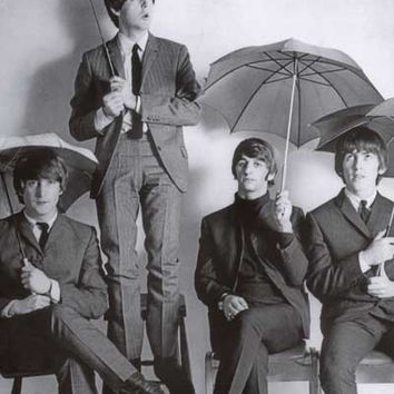 Beatles Umbrella Fellas Portrait Poster 24x36