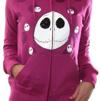 Nightmare Before Christmas Girls Hoodie - Jack Pink