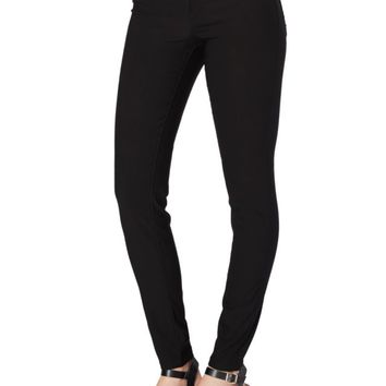 Black Better Booty Twill Stretch Jegging in Short | Skinny Pants | rue21