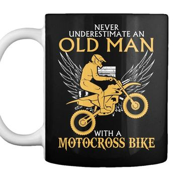 Old Man With A Motocross Bike