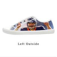 Custom Tim Tebow Broncos Women's Canvas Shoes Fashion Shoes for Women