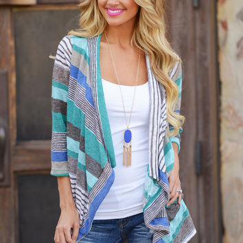 Don't Count Me Out Cardigan - Mint