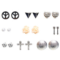 Classic & Eclectic Earring Set | Wet Seal