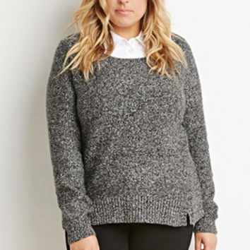 Plus Size Layered-Collar Sweater