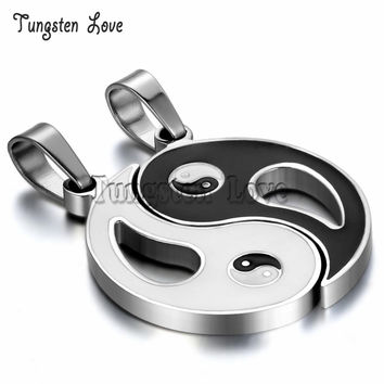 New Chinese Mystical Yin Yang Pendant Necklace stainless steel necklaces Bagua pendant For Men Women New Fashion Couple Necklace