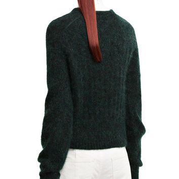 Acne Studios - Dania mohair dark forest green