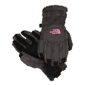 The North Face Girl's Denali Thermal Etip Graphite Gray Gloves