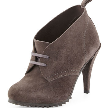 Yasu Lace-Up Suede Bootie, Fox - Pedro Garcia