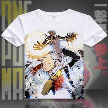 One Punch Man Short Sleeve Anime T-Shirt V1