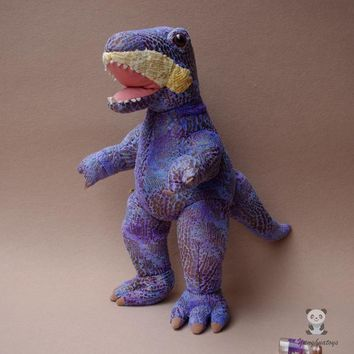 Large Purple Dinosaur Tyrannosaurus Rex Stuffed Animal Plush Toy 17""