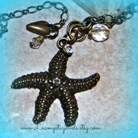 Starfish Necklace, Beach Wear, Starfish Jewelry, Bridesmaid Gift, Beach Wedding,Beach Jewelry