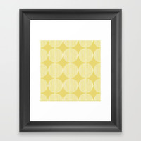 Sunny Circles Framed Art Print by All Is One