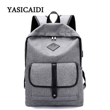Design USB Unisex Backpack Book Bags School Backpack Casual Rucksack Daypack Oxford Canvas 15 Inch Laptop Fashion Man Backpacks