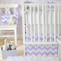 New Arrivals Zig Zag Baby Bedding in Lavender