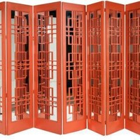 One Kings Lane - Kelly Wearstler: Modern Glamour - 7-Paneled Coral Mirrored Screen