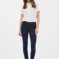 Whiskered Mid-Rise Jeggings