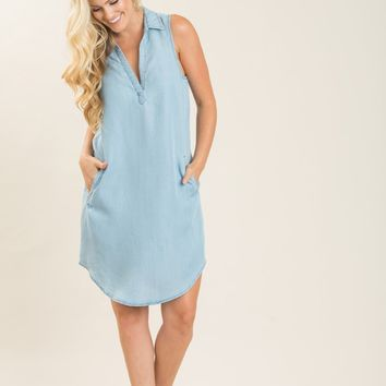 Vera Chambray Shift Dress
