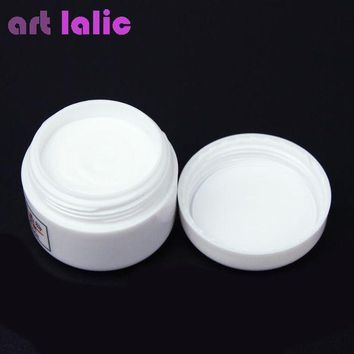ac PEAPO2Q 1pcs Nail Polymer Acrylic Powder Crystal Nail Art Tips Builder CLEAR PINK WHITE See Through Color