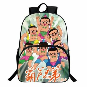 Japanese Anime Bag 2017new  Gourd doll Cosplay Student campus cartoon casual cute large capacity backpack child birthday gift AT_59_4