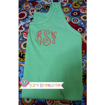 Monogrammed Tank Top by KysKreation on Etsy