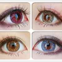 Soft Cosmetic Colored Contact Lenses Cantaloupe Princess Style Eye Cosplay = 1945831044