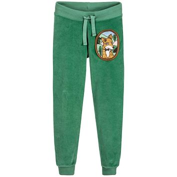 Children's Winter Velour Fleece Fox Print Pants