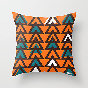 Orange Forest Decorative throw pillow cover - Autumn pillow cover - Modern pillow cover