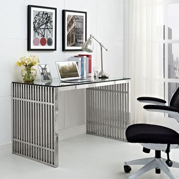 Gridiron Stainless Steel Desk | Overstock.com Shopping - The Best Deals on Desks