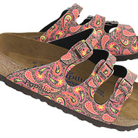 Birkenstock | Women's FLORIDA paisley brown 3 strap sandals 320931