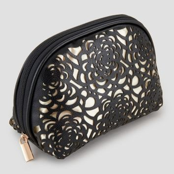 Enchante Accessories Laser-Cut Floral Cosmetic Bag - Handbags & Accessories | Stein Mart