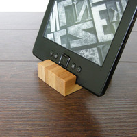 Tiny iPhone Stand. iPad stand. Chocolate. Bamboo Dock Station. iPad wood stand. eBook stand.