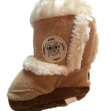 Haute Diggity Dog Pugg Boot Squeaker Dog Toy