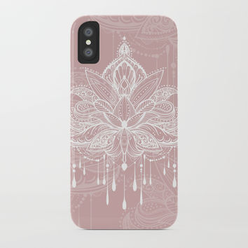Blush mandala iPhone Case by printapix
